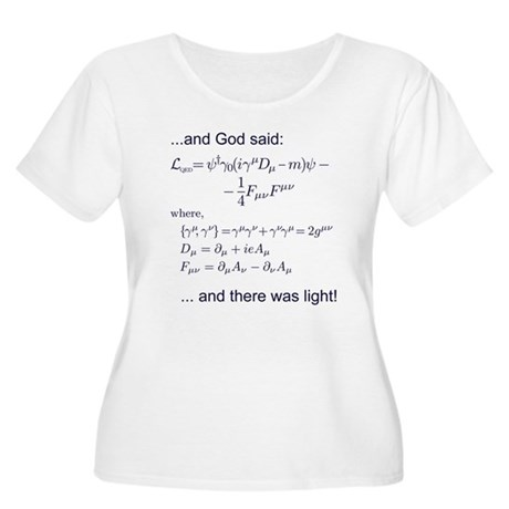 God said, let there be light (QED) Women's Plus Si