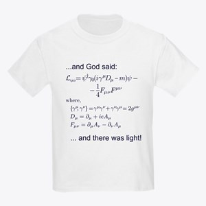 God said, let there be light (QED) Kids Light T-Sh