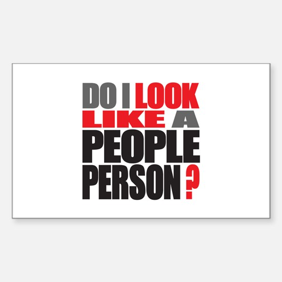 People Person Rectangle Decal