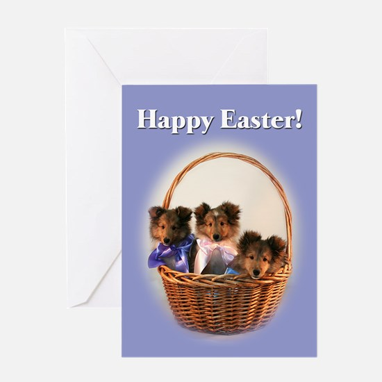 Sheltie Puppies Easter Sheltie Card