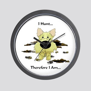 Cairn Terrier - I Hunt... Wall Clock