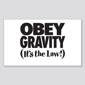 Law of Gravity Rectangle Sticker