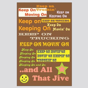 70s Optimism Large Poster