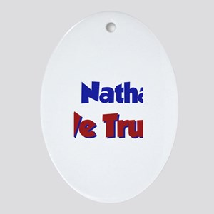 In Nathan We Trust Oval Ornament