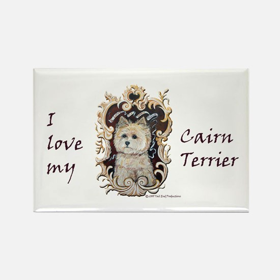 Cairn Terrier - Dog Portrait Rectangle Magnet