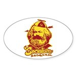 Socialism Oval Sticker (10 pk)