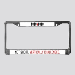 Vertically Challenged License Plate Frame