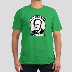 Ron Paul is my homeboy Men's Fitted T-Shirt (dark)
