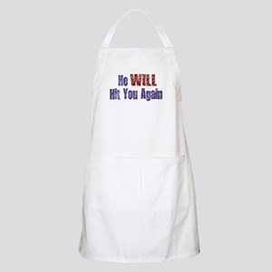 He Will Hit You Again BBQ Apron