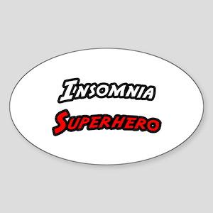 """Insomnia Superhero"" Oval Sticker"