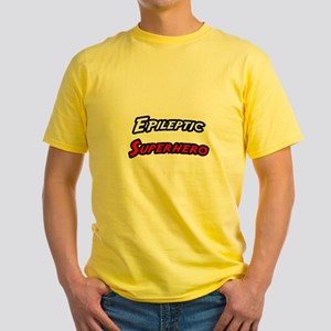 """Epileptic Superhero"" Yellow T-Shirt"