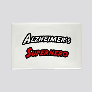 """Alzheimer's Superhero"" Rectangle Magnet"