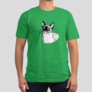 Siamese Men's Fitted T-Shirt (dark)