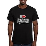I Love Springer Spaniels Men's Fitted T-Shirt (dar
