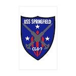USS Springfield (CLG 7) Rectangle Sticker 10 pk)