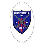 USS Springfield (CLG 7) Oval Sticker (10 pk)