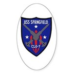 USS Springfield (CLG 7) Oval Sticker
