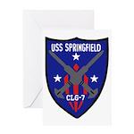 USS Springfield (CLG 7) Greeting Card