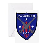 USS Springfield (CLG 7) Greeting Cards (Pk of 10)