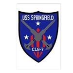 USS Springfield (CLG 7) Postcards (Package of 8)