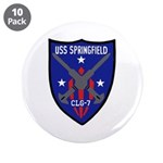 """USS Springfield (CLG 7) 3.5"""" Button (10 pack)"""