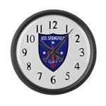 USS Springfield (CLG 7) Large Wall Clock