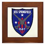 USS Springfield (CLG 7) Framed Tile