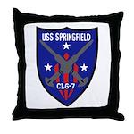 USS Springfield (CLG 7) Throw Pillow