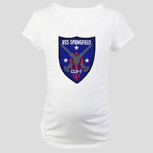 USS Springfield (CLG 7) Maternity T-Shirt