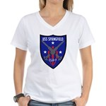 USS Springfield (CLG 7) Women's V-Neck T-Shirt