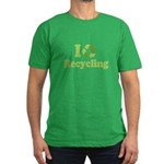 I Love Recycling Men's Fitted T-Shirt (dark)