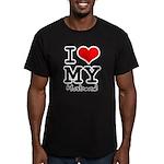 I love my husband Men's Fitted T-Shirt (dark)