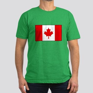 Canadian Flag Men's Fitted T-Shirt (dark)