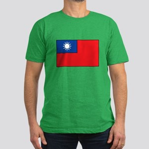 Taiwanese Flag Men's Fitted T-Shirt (dark)