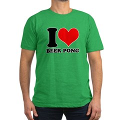 I love beer pong Men's Fitted T-Shirt (dark)