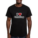I love cuddling Men's Fitted T-Shirt (dark)