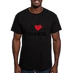 I love trance Men's Fitted T-Shirt (dark)