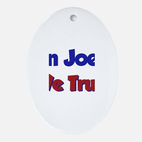 In Joel We Trust Oval Ornament