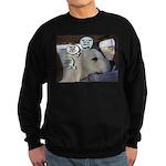 Dog Thoughts humane education Sweatshirt (dark)