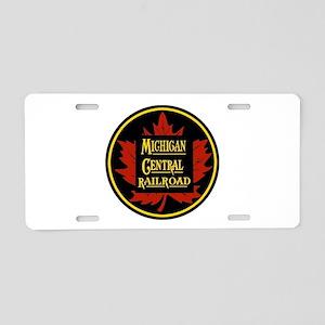 Michigan Central Aluminum License Plate