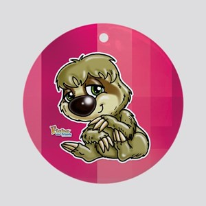 Baby Sloth Ornament (Round)