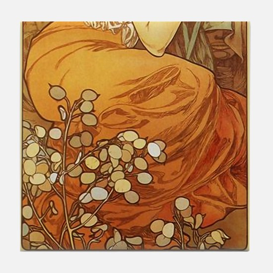 Alphonse Mucha 2 Tile Set - Topaz (Part 2of 2)