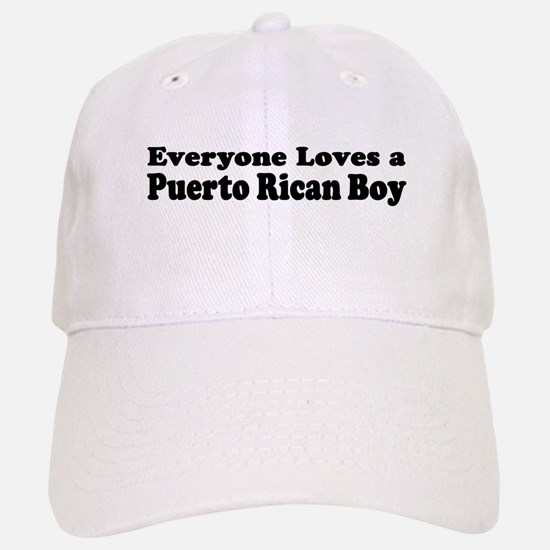 Everyone Loves A puerto Rican Boy Baseball Baseball Cap