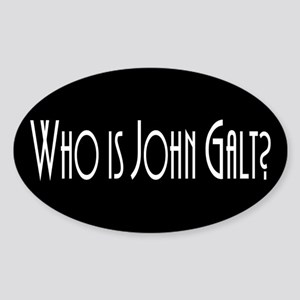 Who is John Galt? Atlas Shrugged Oval Sticker