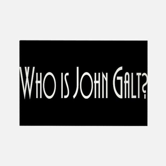 Who is John Galt? Atlas Shrugged Rectangle Magnet