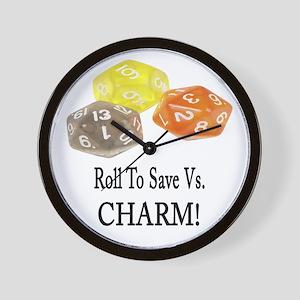 Save Vs CHARM Wall Clock