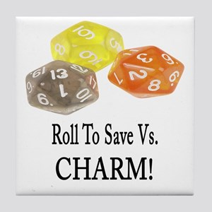 Save Vs CHARM Tile Coaster