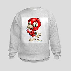 Baby Scarlett Macaw Kids Sweatshirt