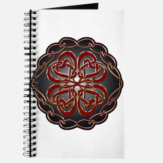 Celtic Knot Hearts Journal