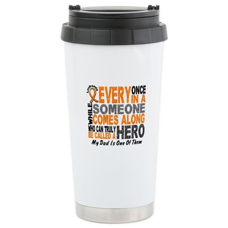 HERO Comes Along 1 Dad LEUKEMIA Stainless Steel Tr